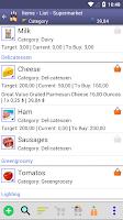 Screenshot of Perfect Shopping List