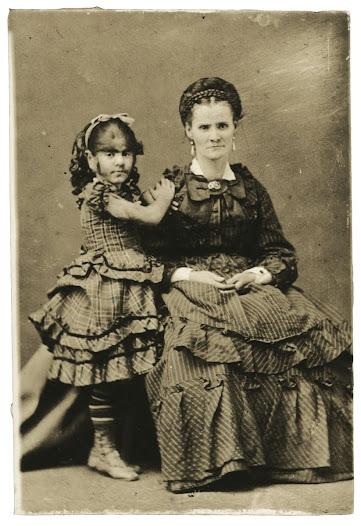 Annie Jones and her mother, ca. 1865