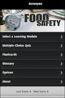 Screenshot of Food Safety Certification Prep
