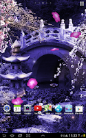 Screenshot of Mystic Sakura Live Wallpaper