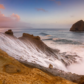 The Half Bowl by Christian Flores-Muñoz - Landscapes Waterscapes ( hystack rock, cape kiwanda, pacific city, oregon coast )