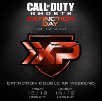 Call Of Duty: Ghosts Extinction Day double XP weekend for Extinction mode begins today