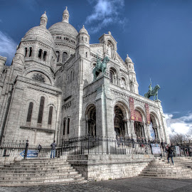 Sacre Coeur by Ben Hodges - Buildings & Architecture Places of Worship ( paris, hdr, church, sacre coeur, montmartre, basillica, france )