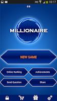 Screenshot of Millionaire Quiz Free