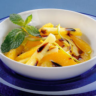 Pineapple And Orange With Bertolli Italian Glaze With Balsamic Vinegar Of Modena