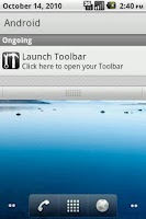 Screenshot of Toolbar (Dock)