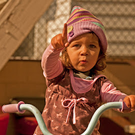 Bebel3 by Jil Norberto - Babies & Children Children Candids ( bike, girl, clothing, fall, backyard,  )