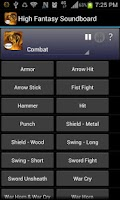 Screenshot of High Fantasy Soundboard