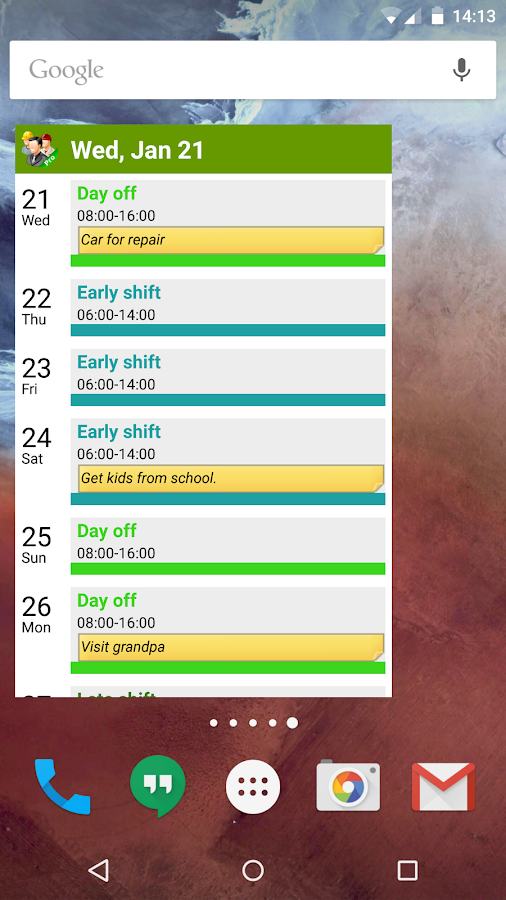 FlexR Pro (Shift planner) Screenshot 7