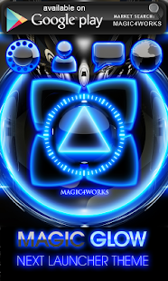 Poweramp skin Glow Magic - screenshot