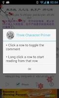 Screenshot of Three Character Primer