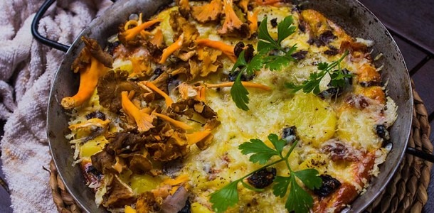 Rif Mountain Omelet With Wild Mushrooms Recipes — Dishmaps