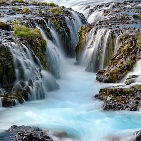Brúarfoss by Brynjar Ágústsson - Landscapes Waterscapes ( suðurland, europe, landslag, nordic-countries, travel, foss, brúarfoss, landscape, south iceland, highland, wilderness, iceland, environment, nature, outdoor, ísland, scenery, landscapes )