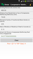 Screenshot of Concrete Engineering Calc.