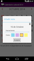 Screenshot of Calendario 2015 Ecuador AdFree