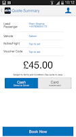 Screenshot of ubiCabs -Book taxis & minicabs