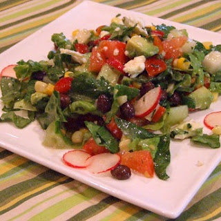 Mexican Chopped Salad w/ Honey-Lime Dressing
