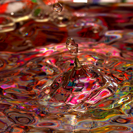 Passion for Color by Janet Lyle - Abstract Water Drops & Splashes ( water, splash, colors, droplets )