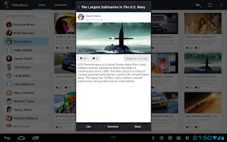 Screenshot of VideoBuzz for Facebook