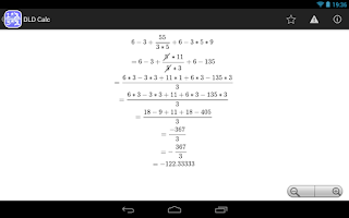 Screenshot of DLD Calc - Math Calculator