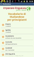 Screenshot of Imparare il thai, thailandese