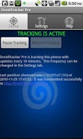 Screenshot of Droid Tracker Pro GPS Tracker