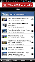 Screenshot of NBC10 Weather