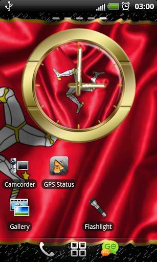 Isle of Man flag clocks
