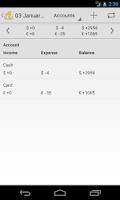 Screenshot of Household Budget Lite