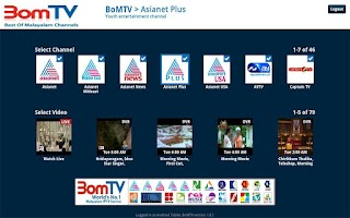 Screenshot of BomTV Android Tablets.