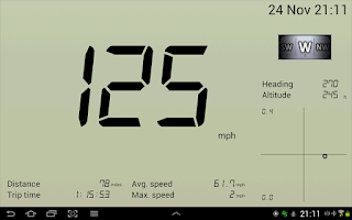 Screenshot of GPS Speedometer Free