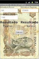 Screenshot of Conversor de Euros y Pesetas