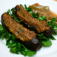 Grilled Sausage Salad with Quick Apple Compote and Watercress