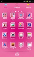Screenshot of Hello Doggy Full Pink GO Theme