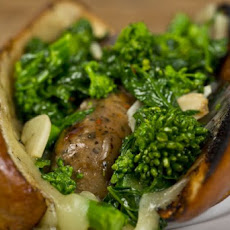 Broccoli Rabe and Provolone Hot Dog