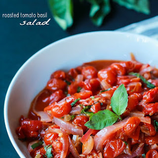 Roasted Tomato Basil Salad