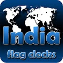 India flag clocks icon