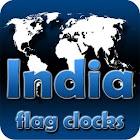 India flag clocks icon