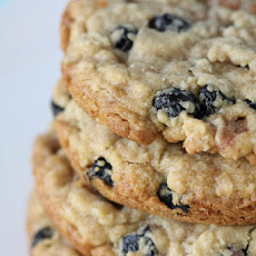 Blueberry, Caramel and White Chocolate Oatmeal Cookies