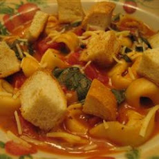 Minute Tomato Soup with Tortellini