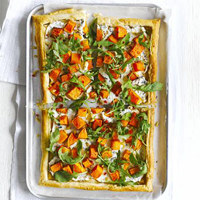 Butternut Ricotta Tart With Fiery Rocket Salad