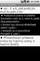 Screenshot of Czech Grammar Basic Rules