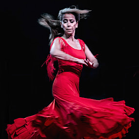 The Red Dancer by Subhasis Ghosh - Uncategorized All Uncategorized ( colour, red, woman, performance, culture,  )