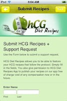 Screenshot of Free HCG Diet Recipes