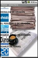 Screenshot of PRENSA ARAGONESA