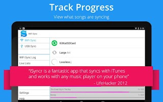 Screenshot of iSyncr : iTunes to Android