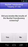 Screenshot of Nuchal Translucency