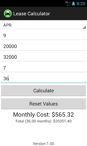 Capitalized Cost Car Calculator