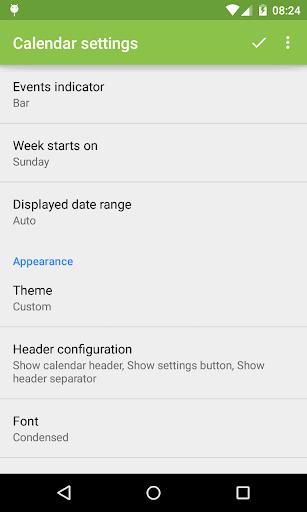 Event Flow Calendar Widget - screenshot