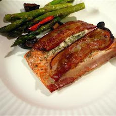 Baked Bacon Topped Salmon